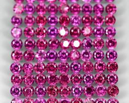 10.12ct. 90pcs. 2.7mm Round 100% Natural Neon Purple Rhodolite Garnet Malaw