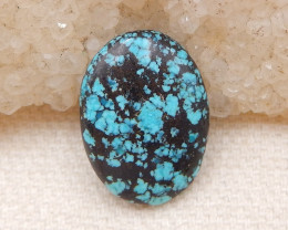 D1307 - 6cts Lucky Turquoise, Handmade Gemstone, Turquoise Cabochons, Lucky