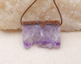 P0106 - 52.5Ct Natural Amethyst Pendant Bead, Side Drilled