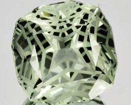 ~CUSTOM CUT~ 9.19 Cts Natural Green Prasiolite/Amethyst Cushion Fancy Brazi