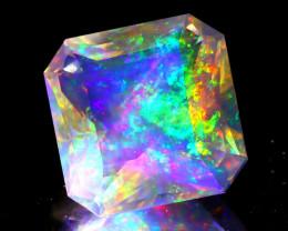 6.35Ct ContraLuz Square Cut Mexican Very Rare Species Opal B2606