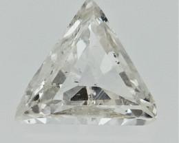 0.09 cts  White Triangle Diamond , Natural Sparkling Diamond