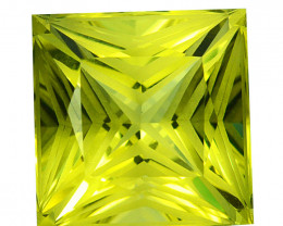 ~CUSTOM CUT~ 7.42 Cts Natural Lemon Quartz Yellow Fancy Square Brazil