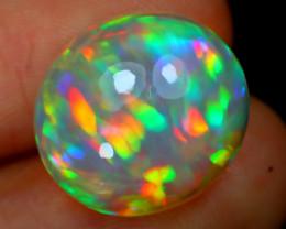 8.43Ct Aurora Ribbon Pattern Rainbow Flash Ethiopian Welo Opal B2616