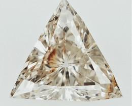 0.21 cts  Triangle Briliant Cut Diamond , natural Sparkling Diamond