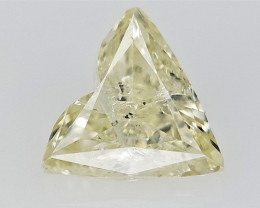 0.40 cts  , Heart Brilliant Cut , Yellow Colored Diamond , salt & Pepper