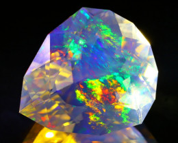 13.65Ct ContraLuz Pear Cut Mexican Very Rare Species Opal B2630