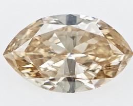 0.40 cts , Light Champagne Diamond , Marquise Brilliant Cut