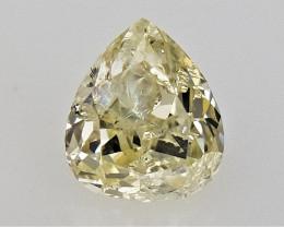 0.17 cts  Pear Brilliant Cut Diamond , Loose Yellow Color diamond