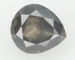 0.14 cts  , rare gray  , Pear Brilliant Cut Diamond ,