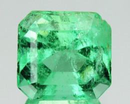 1.17Cts Natural Vivid Green Emerald Octagon Cut Colombia