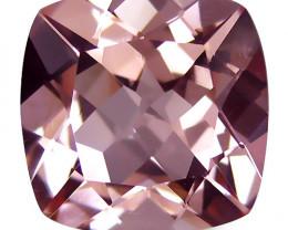 2.03Cts Beautiful Natural Peach Pink Color Morganite Master Cushion Cut  Lo