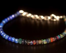 18.35 Crt Natural Welo Smoked Opal & Lapis Bracelet 56
