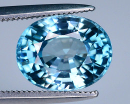 AAA Brilliance 3.15 ct Blue Zircon Cambodia Jewelry Piece