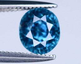 AAA Brilliance 1.85 ct Blue Zircon Cambodia Ring Size