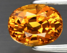 1.14 ct 6x4.7mm Oval Natural Yellow Sapphire, Tanzania