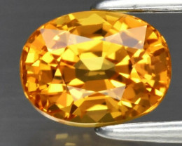 1.06ct 6x4.6mm VS Oval Natural Yellow Sapphire, Tanzania