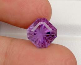 Flower Cut Ct 6.15 Natural Purple Amethyst A-