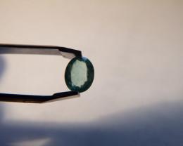 0.5 carat flawless untreated oval cushion cut  Emerald gemstone