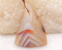 P0158 - 84.5cts Hand Made Natural Triangle Agate Pendant ,Natural Gemstone
