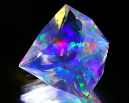 16.21Ct ContraLuz Fancy Cut Mexican Very Rare Species Opal A2709