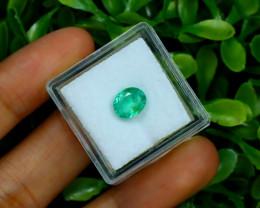 Emerald 1.52Ct Oval Cut Natural Zambian Green Color Emerald A2725
