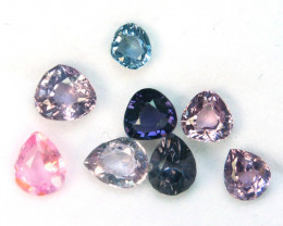 3.66 Cts Natural Fancy Spinel Pear Cut 8Pcs Burmese Mixed Sizes