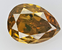 0.75 cts  fancy Natural Diamond , Unique Shaped Diamond