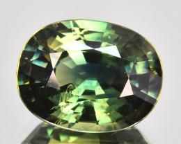3.07 Cts Natural Sapphire Beautiful Green Pretty Oval Cut Australia
