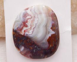 D1345 - 36cts Crazy Lace Agate Cabochon, Natural Crazy Lace Agate Loose Gem