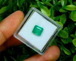 Emerald 1.60Ct Octagon Cut Natural Zambian Green  Emerald C2728