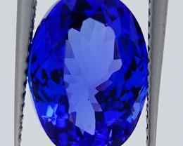 4.57 CT ROYAL BLUE Rare Find D-BLOCK  Natural  Tanzanite   T1-9