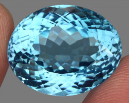 33.17  ct. Earth Mined Top Quality Blue Natural Topaz Brazil