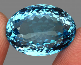 33.19 ct. Earth Mined Top Quality Blue Natural Topaz Brazil