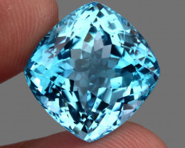 34.33 ct. Earth Mined Top Quality Blue Natural Topaz Brazil
