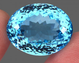 41.20 ct. Earth Mined Top Quality Blue Natural Topaz Brazil