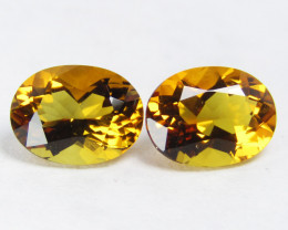 4.52Cts Stunning Natural Citrine Oval Shape 10X8mm Matching Pair VIDEO