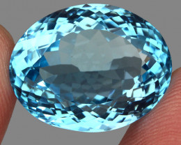 30.55  ct. 100% Natural Earth Mined Top Quality Blue Topaz Brazil