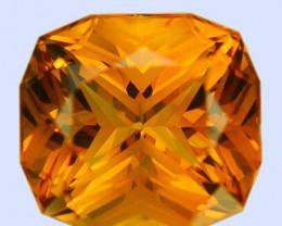 ~CUSTOM CUT~ 9.14 Cts Natural Golden Orange Citrine Fancy Cushion Brazil