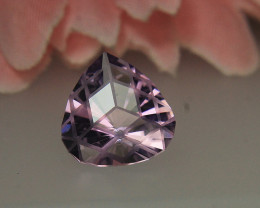like an Optical illusion on Heart Shape Amethyst Gemstone Cut by Master Cut