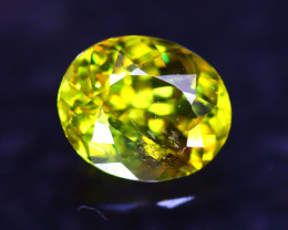 Sphene 1.63Ct Natural Rainbow Flash Chartreuse Green Sphene E2811/A51