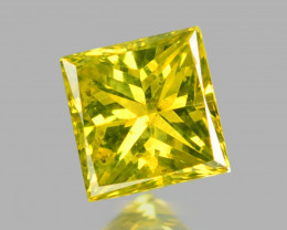 *NoReserve*Diamond 0.08 Cts Rare Fancy Yellow-Green Color Natural