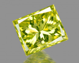 *NoReserve*Diamond 0.17 Cts Rare Yellow-Green Color Natural