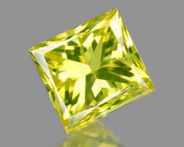 *NoReserve*Diamond 0.20 Cts Rare Yellow-Green Color Natural VS Clarity