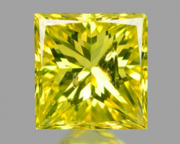 *NoReserve*Diamond 0.25 Cts Rare Yellow-Green Color Natural
