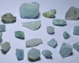Amazing Natural color Rough Aquamarine lot 100Cts-A/500