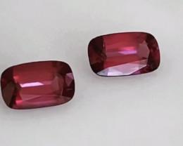 Pretty Rectangular Cushion Cut Purple Red Rhodolite Garnet - Kenya  KR161