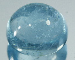 16.78 Cts Natural Aquamarine Beautiful Blue Cabochon Brazil
