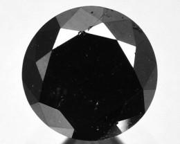 1.46 Cts Natural Black Diamond Round Africa