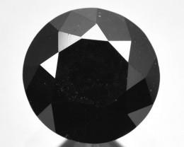 1.90 Cts Natural Black Diamond Round Africa